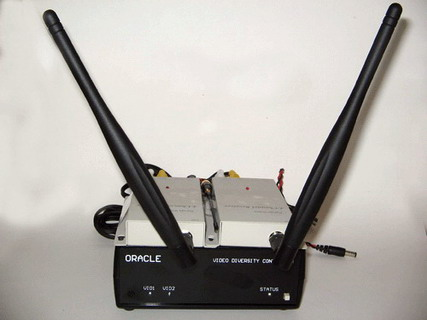 Diversity-controller ORACLE s přippojenými dvěma jednovstupovými videopřijímači
