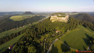 Königstein and Lilienstein from west