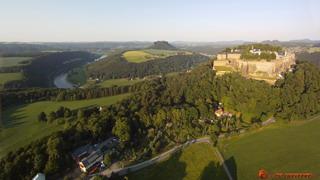 Königstein and Lilienstein from south-west