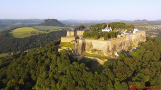 Königstein and Lilienstein from south-west