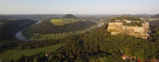 Panoramatic view of Königstein and Czech-Saxonia Switzerland