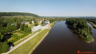 Elbe and Castle Pilnitz from west