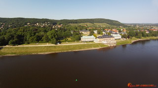Elbe and Castle Pilnitz from south