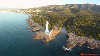 Lighthouse and Playa del Ribamar